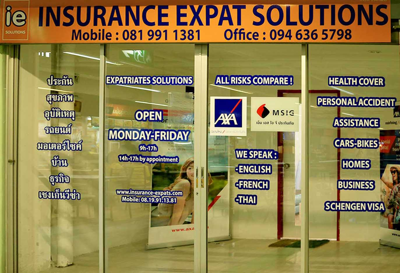 Assurance Chiang Mai, Thailande, Asie - IE Solutions